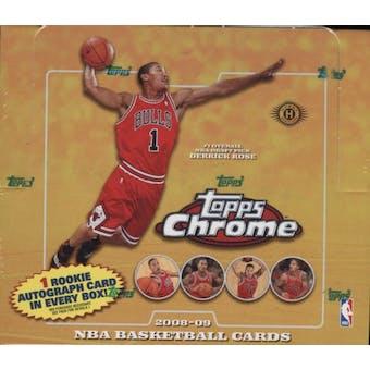 2008/09 Topps Chrome Basketball Hobby Box
