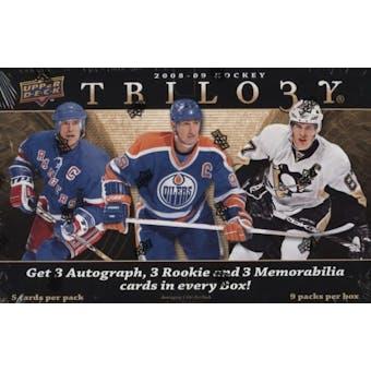 2008/09 Upper Deck Trilogy Hockey Hobby Box