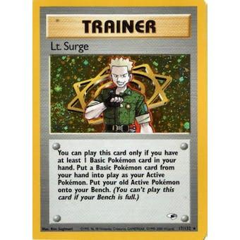 Pokemon Gym Heroes Single Lt. Surge Trainer 17/132