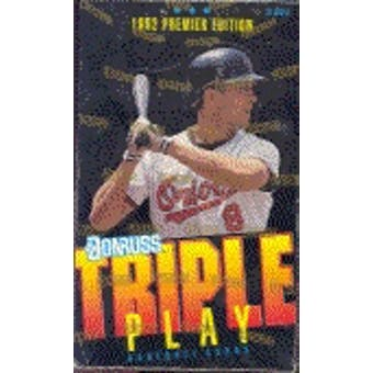 1992 Donruss Triple Play Baseball Hobby Box