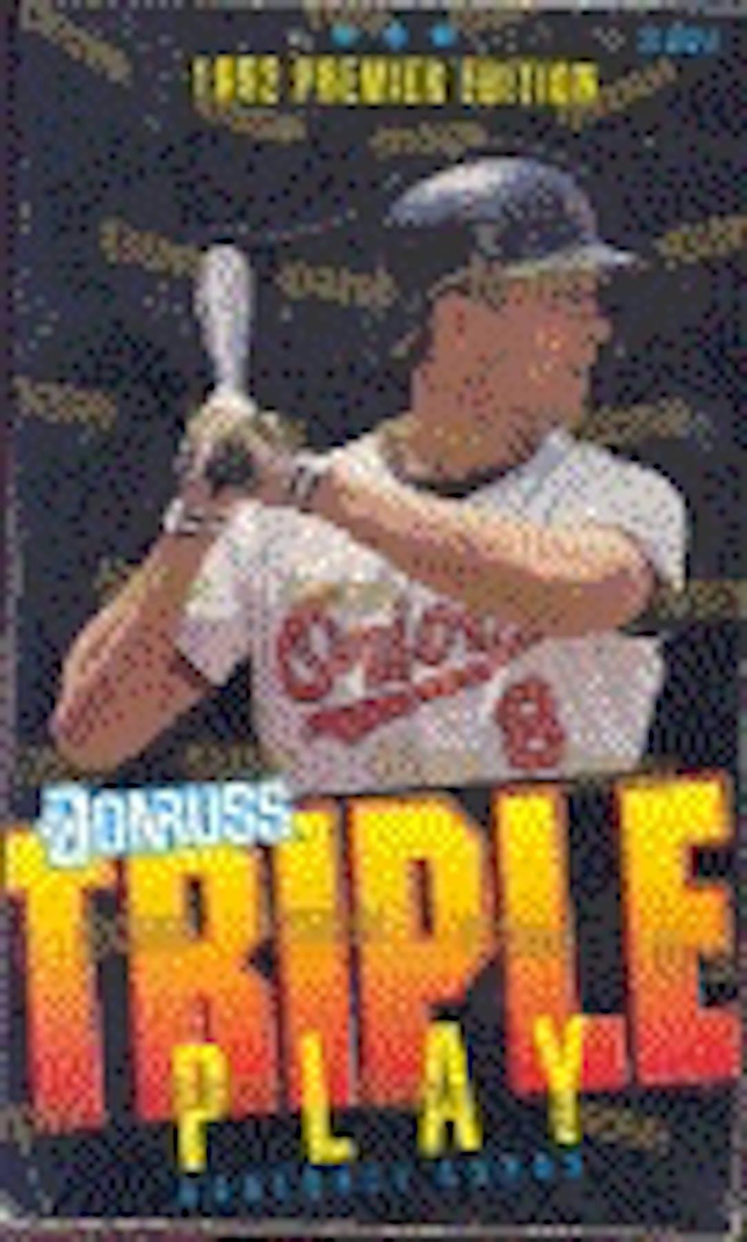1992 Donruss Triple Play Baseball Hobby Box Da Card World