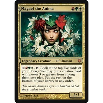 Magic the Gathering Shards of Alara Single Mayael the Anima Foil