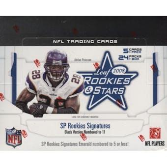 2008 Leaf Rookies & Stars Football Hobby Box