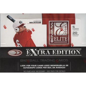 2008 Donruss Elite Extra Edition Baseball Hobby Box
