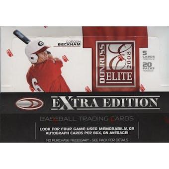 2008 Donruss Elite Extra Edition Baseball Hobby Box