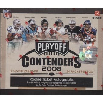 2008 Playoff Contenders Football Hobby Box