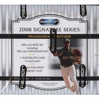 2008 Razor Signature Series Baseball Hobby Box