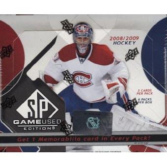 2008/09 Upper Deck SP Game Used Hockey Hobby Box