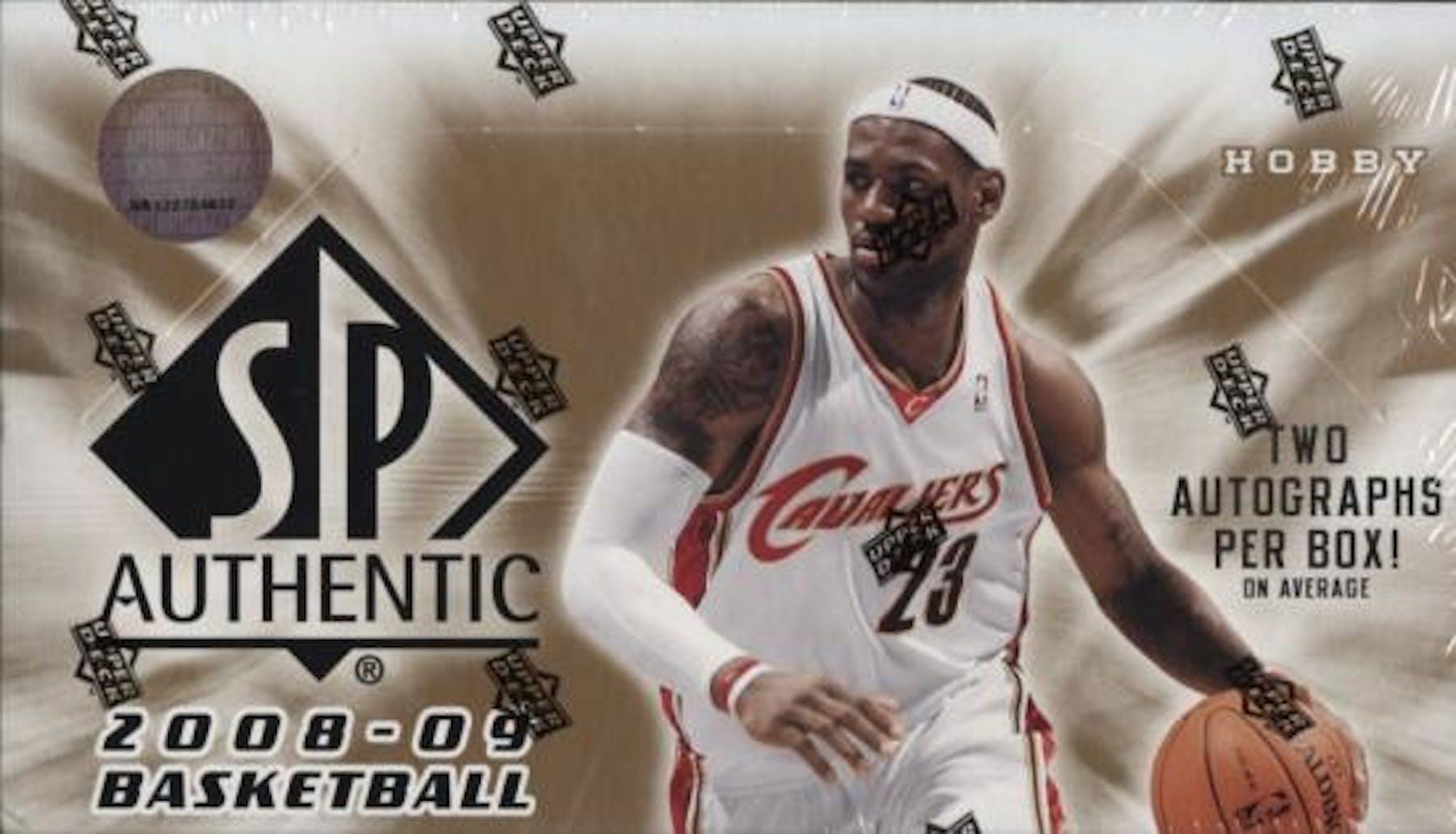 superior quality 3102e ace11 2008/09 Upper Deck SP Authentic Basketball Hobby Box