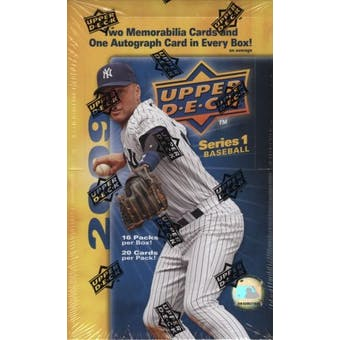 2009 Upper Deck Series 1 Baseball Hobby Box
