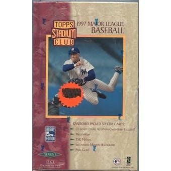 1997 Topps Stadium Club Series 1 Baseball Jumbo Box