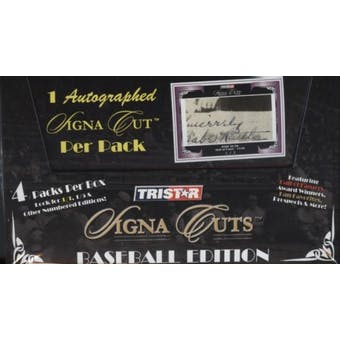 2008 TriStar Signa Cuts Baseball Edition Series 2 Hobby Box