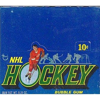 1971/72 Topps Hockey Wax Box