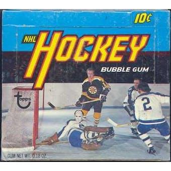 1972/73 Topps Hockey Wax Box
