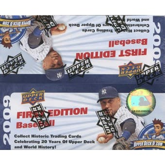 2009 Upper Deck First Edition Baseball Hobby Box
