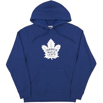 Toronto Maple Leafs Majestic Blue Felt Tek Patch Dual Blend Fleece Hoodie