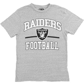 Oakland Raiders Majestic Gnarly Gray Victory Gear VI Tee Shirt (Adult X-Large)