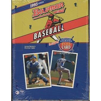 1993 Bowman Baseball Hobby Box