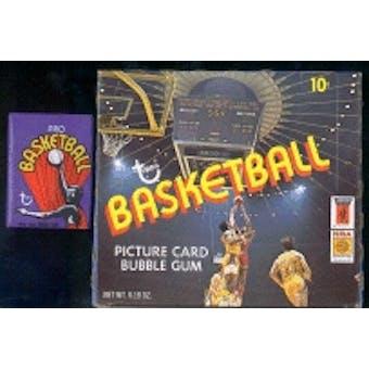 1972/73 Topps Basketball Wax Box