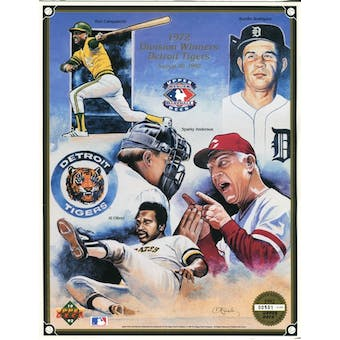 1992 Upper Deck 1972 Division Winners Detroit Tigers Commemorative Sheet Lot of 10