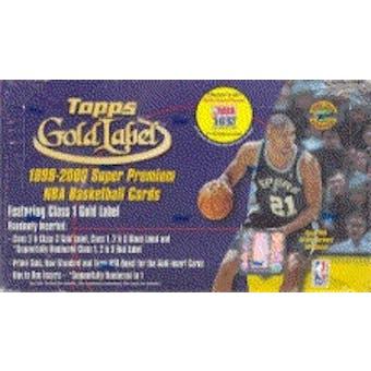 1999/00 Topps Gold Label Basketball Hobby Box