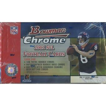 2002 Bowman Chrome Football Hobby Box