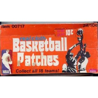 1974/75 Fleer Basketball Cloth Patches Box