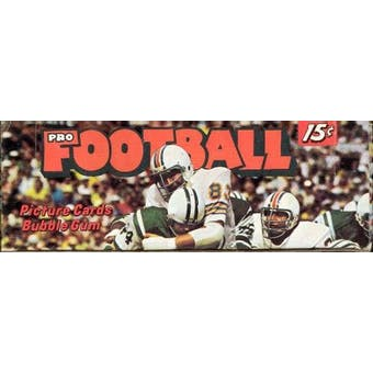 1974 Topps Football Wax Box