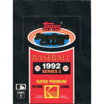 1992 Topps Stadium Club Series 2 Baseball Wax Box