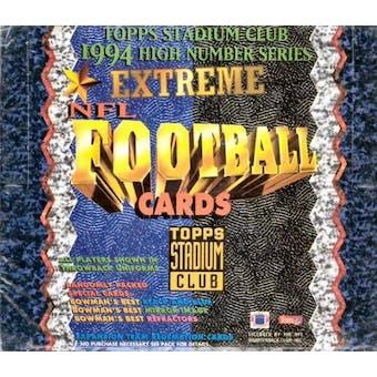1994 Topps Stadium Club Series 3 Football Hobby Box