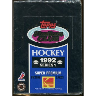 1992/93 Topps Stadium Club Series 1 Hockey Wax Box