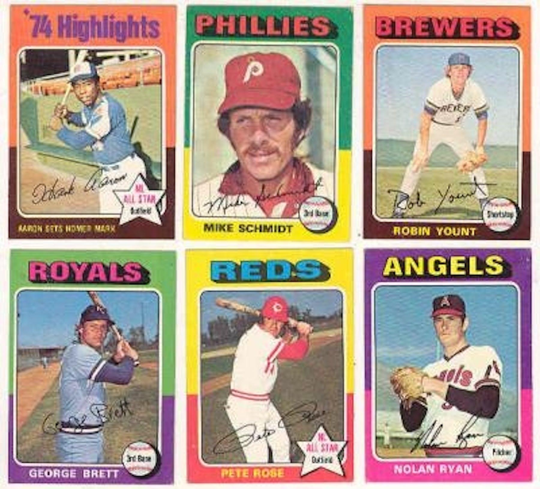 1975 Topps Baseball Complete Set Nm Mt Da Card World