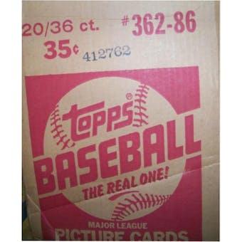1986 Topps Baseball Wax 20-Box Case