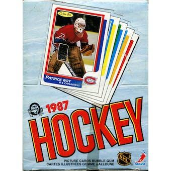 1986/87 O-Pee-Chee Hockey Wax Box