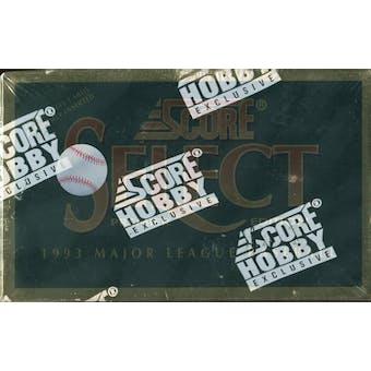 1993 Score Select Baseball Hobby Box