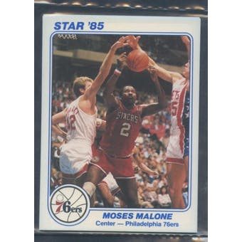 1985 Star Co. Basketball 5x7 Sixers White Bagged Set