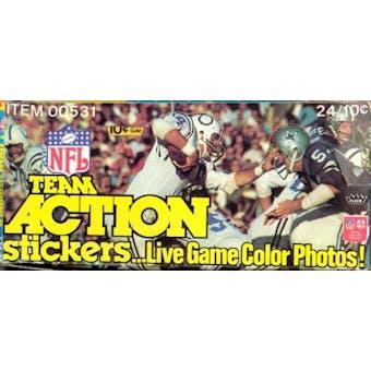 1976 Fleer in Action Football Wax Box