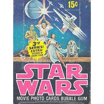 Star Wars 3rd Series Wax Box (1977-78 Topps)