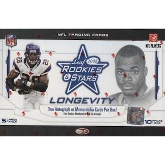 2008 Leaf Rookies & Stars Longevity Football Hobby Box
