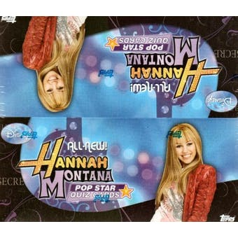 Hannah Montana Pop Star Quiz Cards Box (2008 Topps)