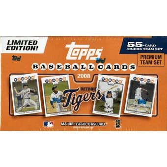 2008 Topps Premium Team Baseball Set (Box) (Detroit Tigers)