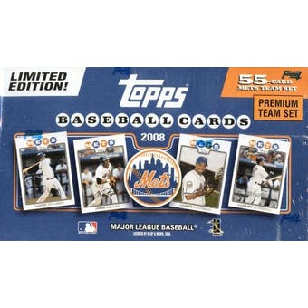 2008 Topps Premium Team Baseball Set (Box) (NY Mets)