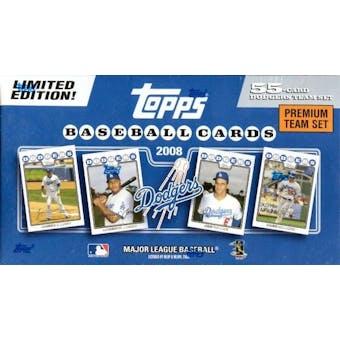2008 Topps Premium Team Baseball Set (Box) (LA Dodgers)