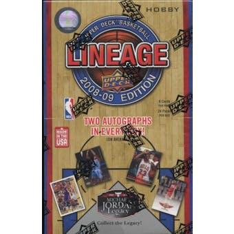 2008/09 Upper Deck Lineage Basketball Hobby Box