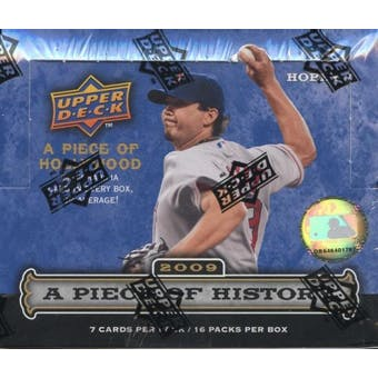 2009 Upper Deck Piece Of History Baseball Hobby Box