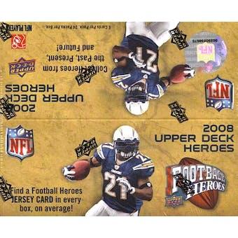 2008 Upper Deck Heroes Football 24-Pack Box