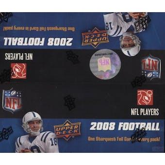 2008 Upper Deck Football 24-Pack Box
