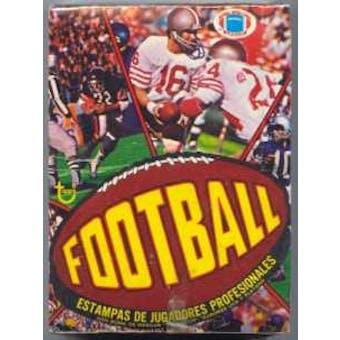 1977 Topps Football Wax Box (Rare Mexican Version)