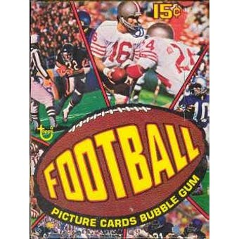 1977 Topps Football Wax Box