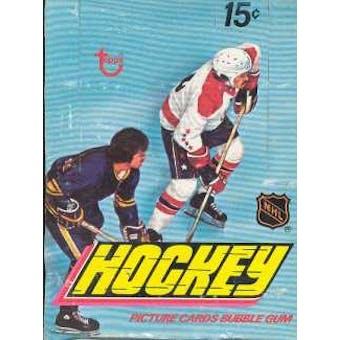 1977/78 Topps Hockey Wax Box